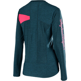 Troy Lee Designs Skyline LS Jersey Women heather corsair/coral